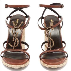 ❌💰SOLD❗️Saint Laurent Cassandra Wedge Sandals ❌💰